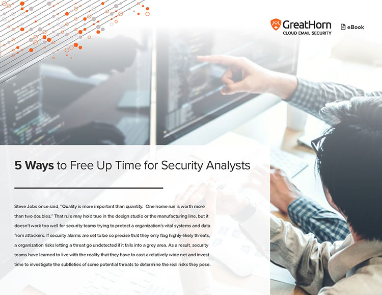 5 Ways to Free Up Time for Security Analysts